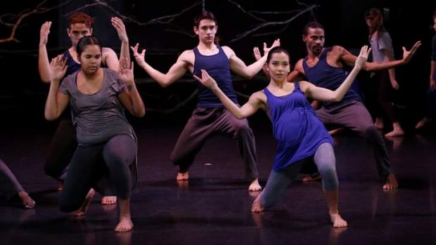<i>Hit the Floor Together</i> featured dancers from QL2, NAISDA College and Adelaide's Kurruru Youth Performing Arts.