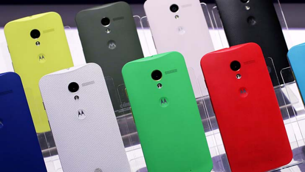Colour my world: Motorola's Moto X comes in various colours and designs.