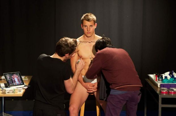 Zac O'Brien becomes 'Anatomical Man'. RMIT University teacher Dr Claudia Diaz brings her lessons to life with the help ...