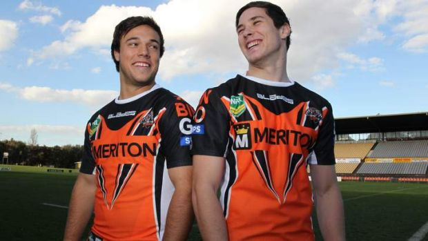 Better by halves: Contracted Tigers cubs Luke Brooks (left) and Mitchell Moses.