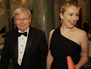 Side by side: Kevin Rudd and Jessica.