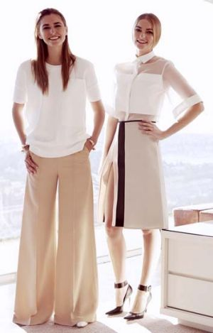Abbott's secret weapons: Bridget and Frances Abbott in <i>Harper's Bazaar</i>.