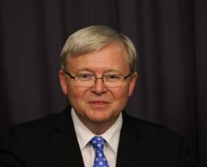 Settled: Kevin Rudd decides the election will take place on September 7.