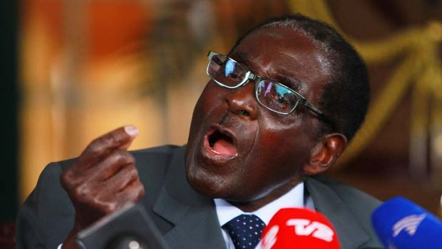 """Claiming a """"landslide victory"""": Robert Mugabe's Zanu-PF party has been accused of vote rigging."""
