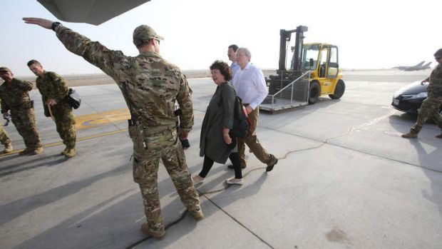 Criticised: Therese Rein with Kevin Rudd in Afghanistan.