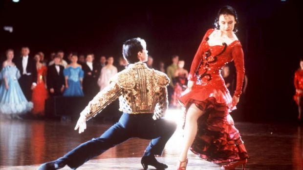 Paul Mercurio as Scott and Tara Morice as Fran in the 1992 movie 'Strictly Ballroom'.