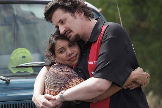 Cherie (Deborah Mailman) and Martin say goodbye.