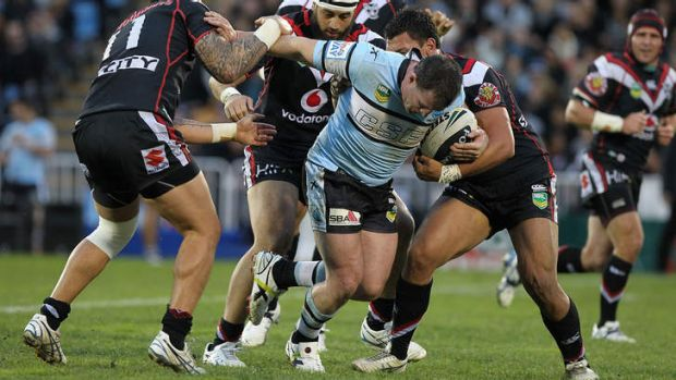 'Grabbed': Gallen was detained by customs at Sydney airport as Cronulla returned from New Zealand after their Saturday ...