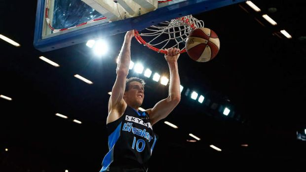 Grand slam: New Zealand forward Tom Abercrombie will be fit to face the Boomers.