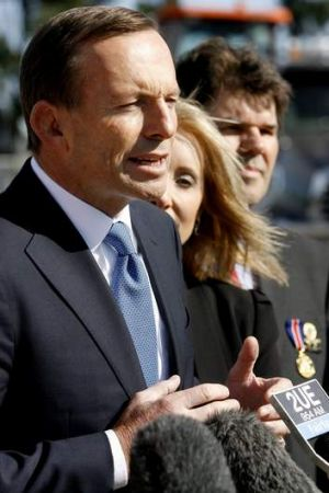 He means business: Tony Abbott.