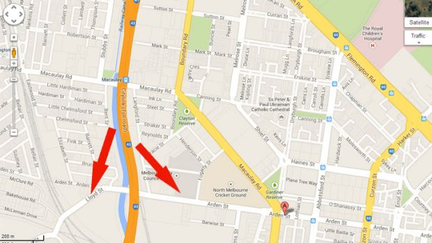A map, created by the state government's Linking Melbourne Authority and seen by Fairfax Media, contains dotted lines ...