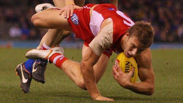 Highly valued: Kieren Jack during the clash against the Bulldogs on Sunday.