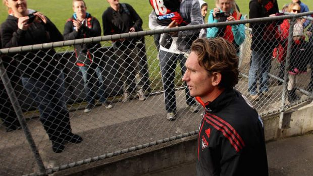 Still adored: Essendon fans are sticking by James Hird.