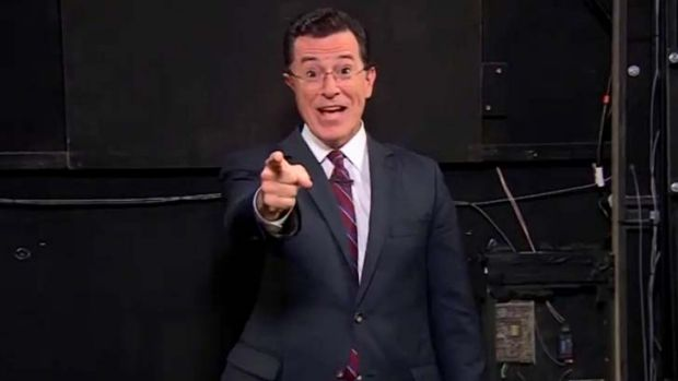 Stephen Colbert: Pointing the way.