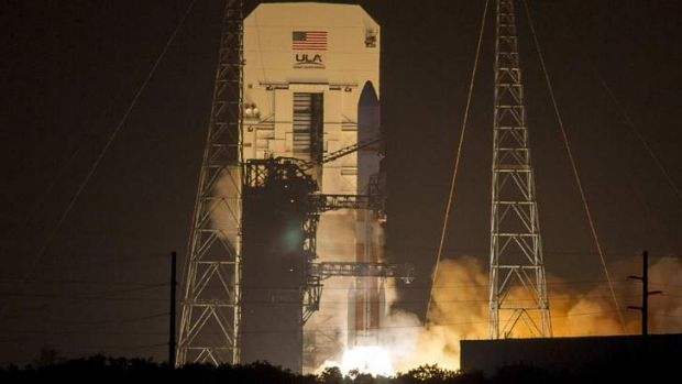 Lift off: A US Air Force Wideband Global SATCOM (WGS-6) mission launches from Cape Canaveral Air Force Station, Florida.