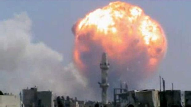 An explosion at a weapons depot in Homs last month: The CIA says there is a danger that weapons might fall into the ...