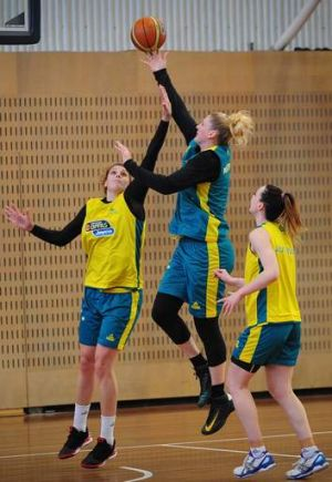 Lauren Jackson during Opals training in Canberra on Thursday.