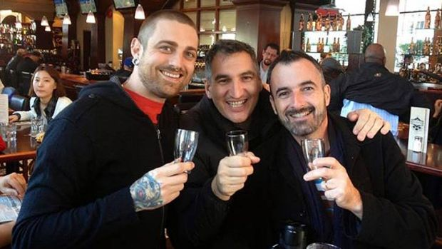 Slightly Twisted Refreshments owners Nicholas Heard, Diego Frigerios and Patrick Boucher.