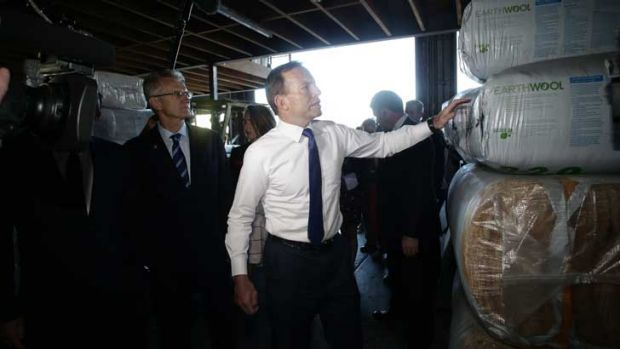 Opposition Leader Tony Abbott on the campaign trail in Queensland.