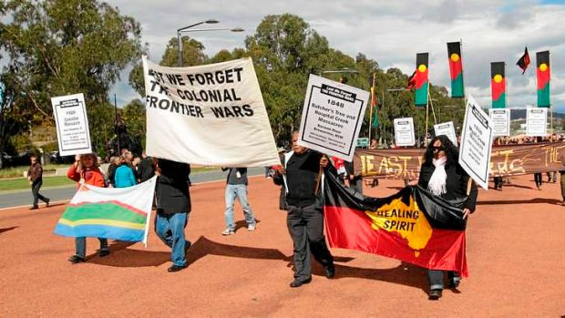 Long fight: Aborigines have battled for more than 200 years to regain ownership of territory.