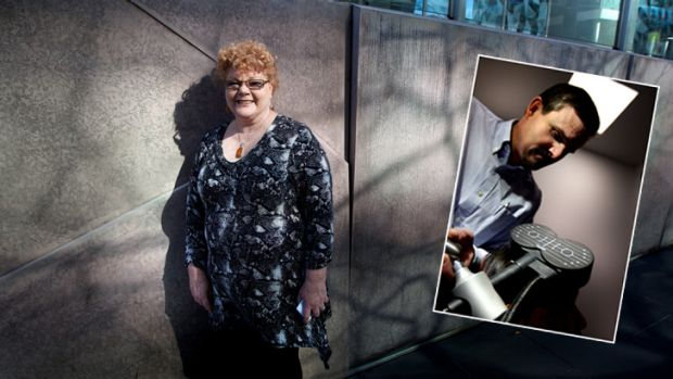 Main... Jan Steele. Inset... Professor Paul Fitzgerald,  a researcher at Monash Alfred Psychiatry Centre operates the ...