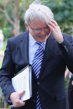 Up to old tricks: Kevin Rudd.