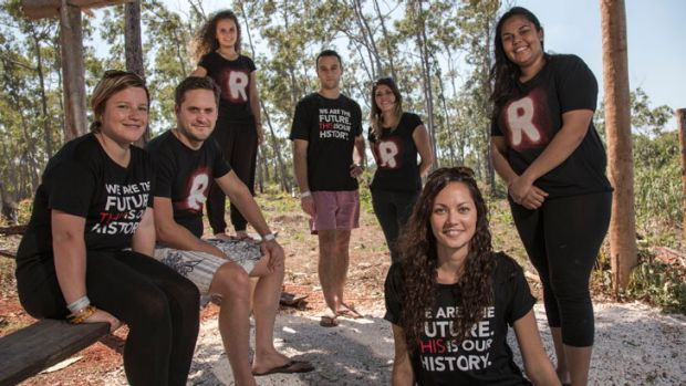 Key figures in the newly-formed Recognise This youth-led campaign as the Journey To Recognition reaches the Garma ...