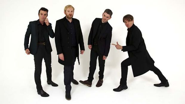 Right on: Franz Ferdinand members (from left) Nick McCarthy, Bob Hardy, Paul Thomson and Alex Kapranos intentionally ...