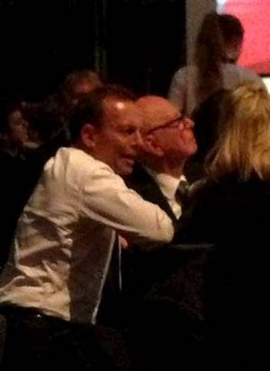 Closer than close: Tony Abbott and Rupert Murdoch.