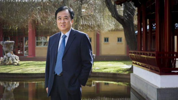 Chinese Ambassador to Australia, Chen Yuming at the Chinese Embassy in Yarralumla. He has announced he is leaving his ...