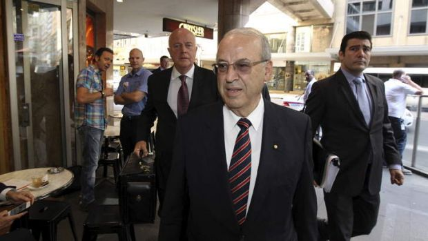 Golden handshake: Former Labor Party NSW Minister, Eddie Obeid arrives at the ICAC inquiry.