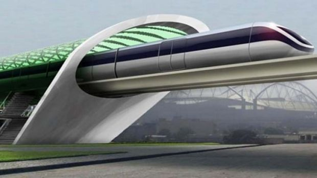 The hype: A vision of the Hyperloop.