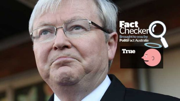 Kevin Rudd's claim that you can change the GST without the consent of states and territories is true.