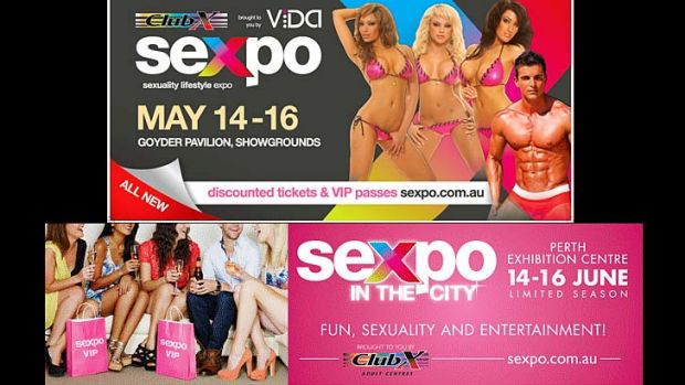 Sexpo ads then and now ... Above is the ad used in 2010 and below is the ad used in 2013.