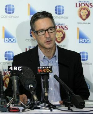 Outgoing Brisbane Lions chairman Angus Johnson has fallen on his sword.