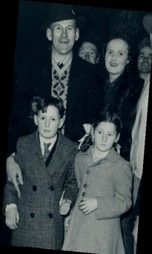 Jack with wife Sybil, Jack jnr and Jill.