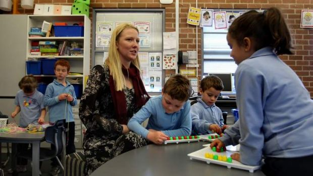 "Claire Lennox (pictured), a kindergarten teacher at St Michael's Catholic Primary School at Stanmore: ""Extra time off ..."