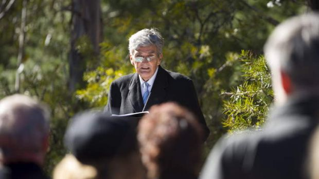 Dr Andrew Tink spoke for the 73rd anniversary of the Air Disaster Memorial.