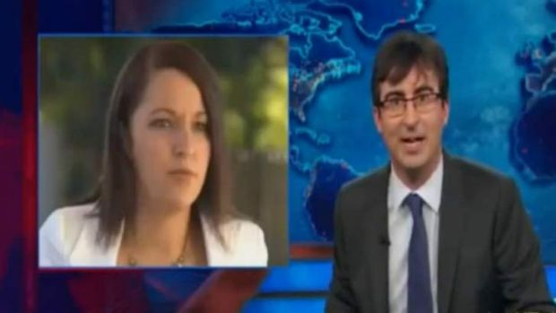 """Does Australia have a Sarah Palin?: John Oliver pokes fun at Stephanie Bannister."