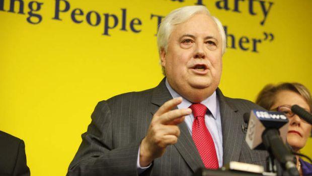 The incoming member for Fairfax, Clive Palmer.