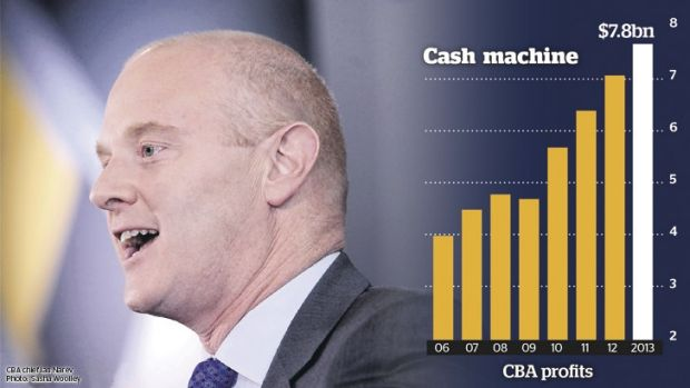 CBA chief Ian Narev said many members of the public were struggling to understand the implications of falling resources ...
