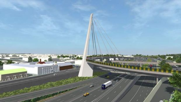 An artist's impression of part of the proposed link's eastern section.