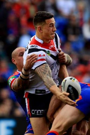 Mind made up: Sonny Bill Williams stars for the Roosters.
