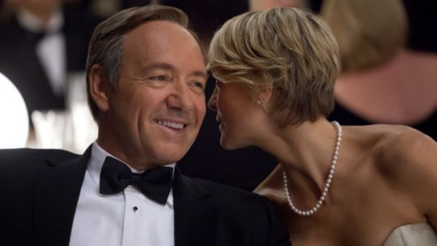 House of Cards is nominated for nine Emmys, including two for the stars of the show, Kevin Spacey and Robin Wright.
