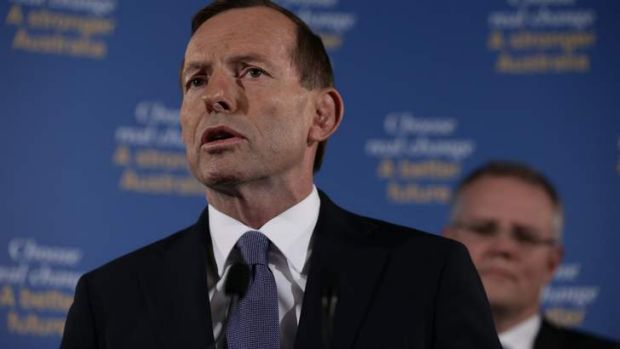 Opposition Leader Tony Abbott and Coalition immigration spokesman Scott Morrison announce a toughening up of asylum ...