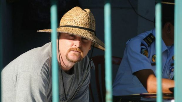 Frustrated and waiting: Martin Stephens, pictured at Kerobokan on Friday, is among four of the Bali Nine drug smugglers ...