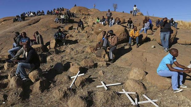 "Crosses are placed at a hill known as the ""Hill of Horror""."