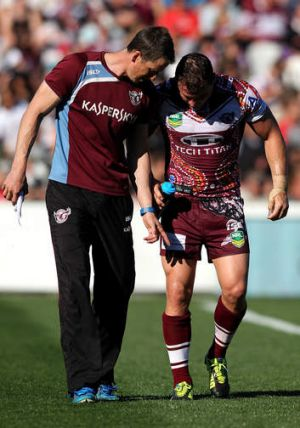 Sick Sea Eagle: Star Manly forward Anthony Watmough could miss three NRL matches after being injured in a controversial ...