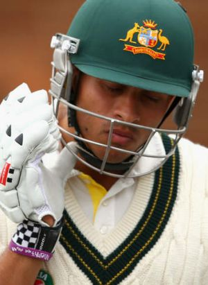 Horror run: Usman Khawaja was given three games to prove himself at No.3 and is deemed unlikely to return.