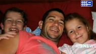 Les Karayan with his two kids, he was killed in an accident while cycling in Brisbane